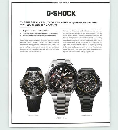 Picture of a G-Shock print ad